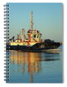 Tug Boat Reflections Spiral Notebook