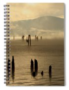 Tugboat In The Mist Spiral Notebook
