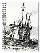Tugboat Lela Foss Spiral Notebook