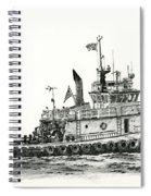 Tugboat Shelley Foss Spiral Notebook