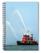 Tugboat's Welcome Salute Spiral Notebook