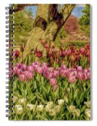 Tulip Bed At Longwood Gardens In Pa Spiral Notebook