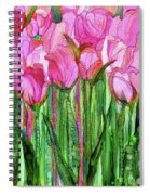Tulip Bloomies 1 - Pink Spiral Notebook