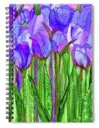 Tulip Bloomies 1 - Purple Spiral Notebook