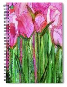 Tulip Bloomies 2 - Pink Spiral Notebook