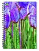 Tulip Bloomies 2 - Purple Spiral Notebook