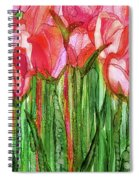 Tulip Bloomies 2 - Red Spiral Notebook