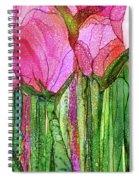 Tulip Bloomies 3 - Pink Spiral Notebook