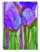 Tulip Bloomies 3 - Purple Spiral Notebook