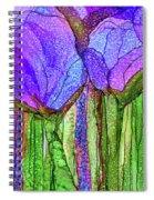 Tulip Bloomies 4 - Purple Spiral Notebook