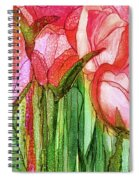 Tulip Bloomies 4 - Red Spiral Notebook