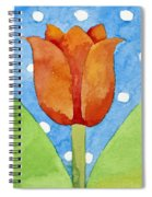 Tulip Blue White Spot Background Spiral Notebook