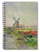 Tulip Field In Holland Spiral Notebook