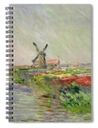Tulip Field In Holland Spiral Notebook