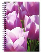 Tulip Garden Flowers Purple Lavender Pastel Art Baslee Troutman Spiral Notebook