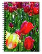 Tulip Garden In Bloom Spiral Notebook