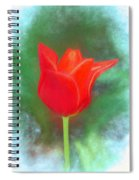 Tulip In Abstract. Spiral Notebook