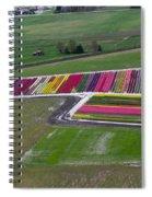 Tulip Town Aerial Spiral Notebook