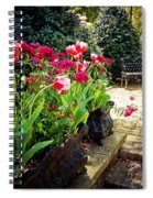 Tulips And Bench Spiral Notebook