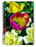 Tulips And Flowers  Spiral Notebook