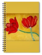 Tulips And Love Happy Together Spiral Notebook
