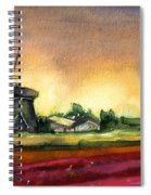 Tulips And Windmill From The Netherlands Spiral Notebook