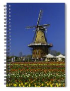 Tulips At The Windmill Spiral Notebook