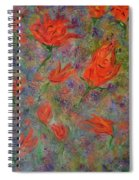 Tulips- Floral Art- Abstract Painting Spiral Notebook