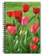 Tulips Flowers Art Prints Spring Tulip Flower Artwork Nature Art Spiral Notebook