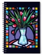 Tulips In Glass Vase Spiral Notebook