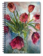 Tulips In Rosie's Vase Spiral Notebook