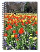 Tulips In The Park. Spiral Notebook