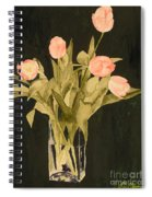 Tulips On Velvet Spiral Notebook