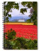 Tulips Secret Window Spiral Notebook