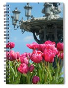 Tulips With Bartholdi Fountain Spiral Notebook