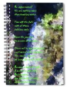 Tumble Off The Waterfall  Spiral Notebook
