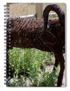 Tumble Weed Sheep Reno Nevada Spiral Notebook