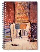 Tunisian Rug Vendor Spiral Notebook