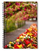 Tunnel Of Roses Spiral Notebook