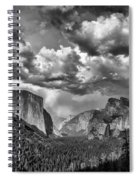 Tunnel View In Black And White Spiral Notebook