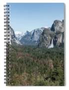 Tunnel View Of Yosemite During Spring Spiral Notebook