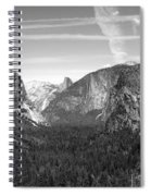 Tunnel View Yosemite B And W Spiral Notebook