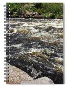 Turbulent Dalles Rapids Spiral Notebook
