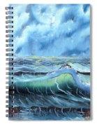 Turbulent Sea Spiral Notebook