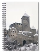 Tures Castle In The Snow Spiral Notebook