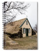 Turf Church At Hof In Iceland Spiral Notebook