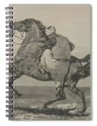 Turk Mounting His Horse Spiral Notebook