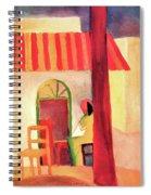 Turkish Cafe By August Macke Spiral Notebook