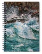 Turmoil In Blue Spiral Notebook