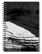 Turn Of The Sun Bw Spiral Notebook